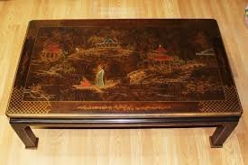 henredon mahogany vintage asian chinoiserie inlaid cocktail coffee table