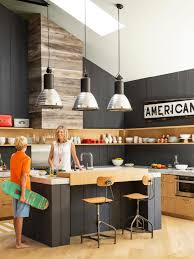 Industrial Lighting Kitchen A Laid Back California House Full Of Cool Ideas Reception Desks