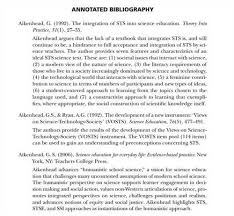 Annotated Bibliography Template Critical Annotated Bibliography