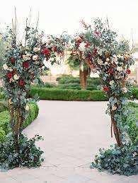 beautiful organic fl wedding altar ideas
