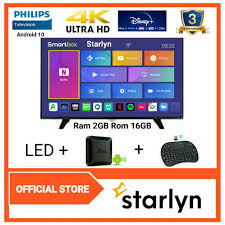 PHILIPS led TV 65 inch 4K UHD Smart Android Box Ram 2GB Rom 16GB 65PUT6023S