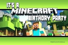 Minecraft Invitations Template Andrewhaslen Co