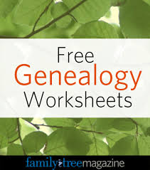Basic Charts And Worksheets Family History Book Family