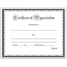Free Printable Editable Certificates Fascinating Free Printable Certificate Of Appreciation Template Thank You