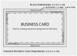 Standard Size Business Card Condo Financials Com