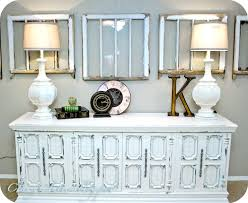 painting old furnituredistressed console table  tip junkie love the old windows and