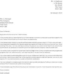 administrator cover letter example job seeking cover letter