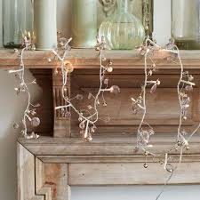 bell and crystal light up garland