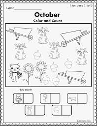 Coloring Pages Color By Number Worksheets Halloween Preschool