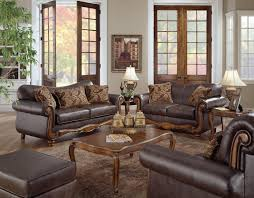 ... Sofa Leather Living Room, Leather Living Room Sets With White Lamp And  Carpet And Wooden Table And ...