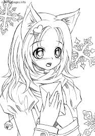Small Picture Cute Anime Cat Coloring Pages Contegricom