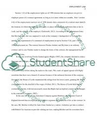 employment law essay example topics and well written essays  employment law essay example