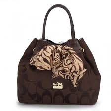 Coach North South Scarf Large Coffee Totes ATS