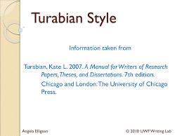 Turabian General Formatting