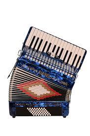 Baronelli Acpk30 Bu Piano Accordion 30 Keys 48 Bass 3 Switches W Hardshell Case Back Straps Blue