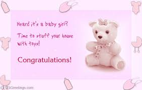 Its A Baby Girl Free New Baby Ecards Greeting Cards 123 Greetings