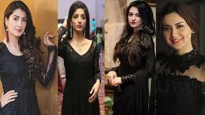 stani actress in black dress