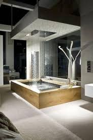 luxury shower ideas rain. Interesting Shower A Full Rain Shower Doubles As A Tub Feature Completely Open To This Room  The Mirror Behind The Helps Make Space  And Seem Much  Throughout Luxury Shower Ideas Rain