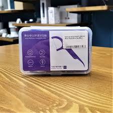 Купить <b>Зубная нить Xiaomi</b> Soocas Floss Pick (50 штук) Purple (D1 ...