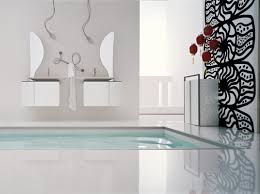 image of black and white bathroom wall décor idea
