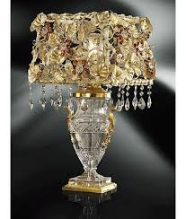 Bedroom, Living Room Amazing Crystal Table Lamps Designs