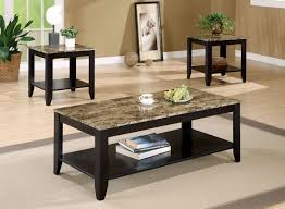 Coffee Table Set Of 3 3 Pc Coffee Table Set In Black Quality Comfort Furniture