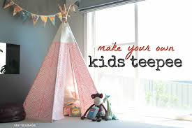 Genuine No Sew Super Easy Andcheap To Diy Kids Teepee Thud For Diy Kids  Teepee Instructions