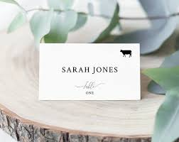 Place Card Holder Template Wedding Place Cards Template With Meal Choice Selection