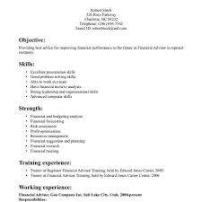 Financial Advisor Resume Template Fred Resumes