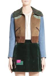 marc jacobs suede patchwork jacket