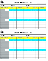 Weight Lifting Log Sheets Workout Log Spreadsheet Free Printable Workout Log Sheets Best