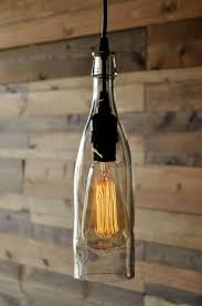 clear wine bottle hanging pendant lamp