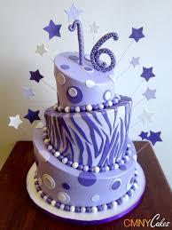 Violet And Lavender Zebra Sweet 16 Cake Cmny Cakes