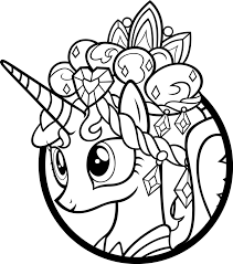 Small Picture My Little Pony Princess Coloring Book Coloring Pages