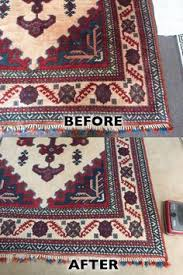 many times water damaged rugs with dye bleeding can be red to its previous condition but they must be taken to a rug cleaning specialist