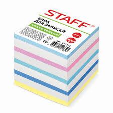 <b>Блок для записей STAFF</b> непроклеенный, куб 9х9х9 см – купить ...