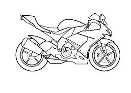 Coloriage De Moto A Imprimer Dessincoloriage