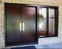double front door. Exterior Double Front Doors Wooden For Homes . Door D