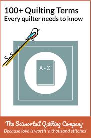 Quilting Terms Glossary | Scissortail Quilting & Pinnable Image for Quilting Terms Glossary Adamdwight.com
