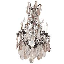 french louis xv style multi colored crystal chandelier for