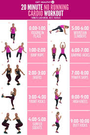 20 minute no running cardio workout cardio routinegym