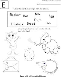 Circle the words E worksheet1