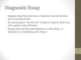diagnostic essay examples write self diagnostic essay