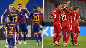 معلق مباراة برشلونة وبايرن ميونخ 14/9/2021 في دوري أبطال أوروبا - الدوري  الإنجليزي بالعربي