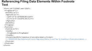 Self Contained Footnotes Within A Dedicated Xml Section Footnote