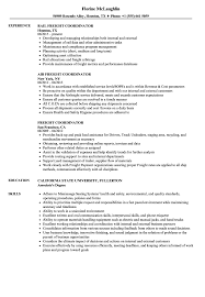 Resume Example Import Export Coordinator Sample Examples ...