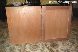kitchen cabinet resurface pennies per door its overflowing