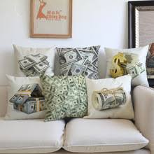 home office chair money. Creative Pattern Of Dollar Bill Paper Money Pillow Case Home Office Chair Sofa Decorative Cushion Cover I