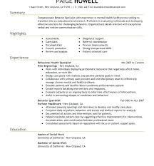 Social Work Resume Examples Exceptional Social Worker Resume Sample
