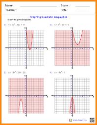 6+ quadratic function worksheet | math cover